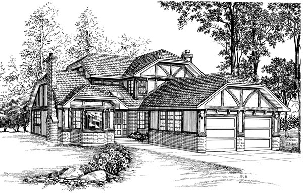 Tudor House Plan 55435 Elevation