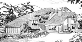 Contemporary House Plan 55438 Elevation