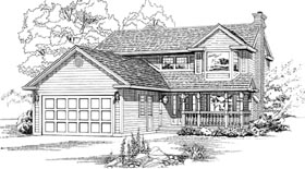 Traditional House Plan 55439 Elevation