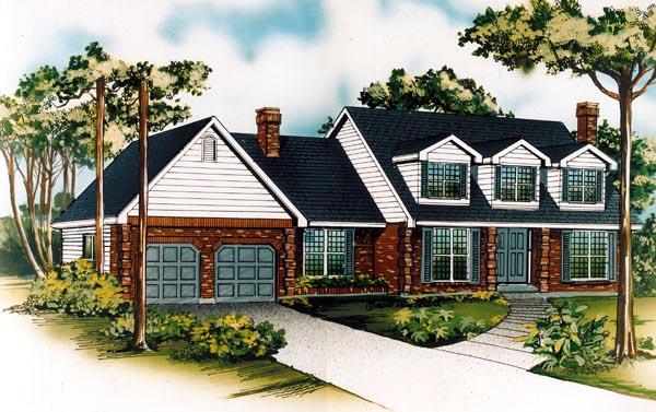 Cape Cod House Plan 55445 Elevation