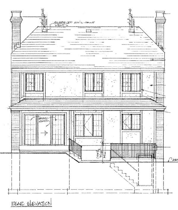 Tudor House Plan 55446 Rear Elevation