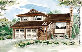 Contemporary House Plan 55447 Elevation