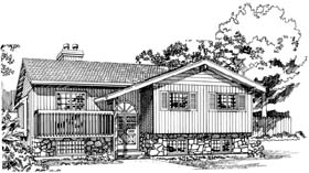 Traditional House Plan 55448 Elevation