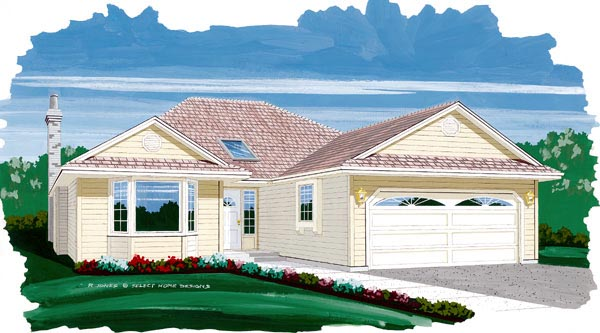 Traditional House Plan 55449 Elevation