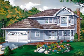 Country House Plan 55450 with 3 Beds, 3 Baths, 2 Car Garage Elevation