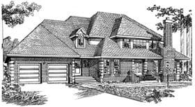 European House Plan 55455 Elevation
