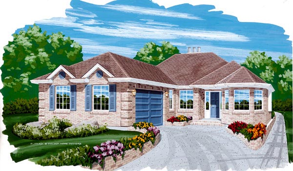 Traditional House Plan 55456 Elevation