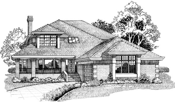 Contemporary House Plan 55458 Elevation