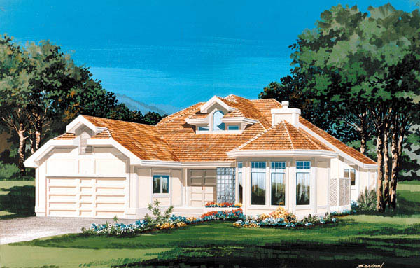 Contemporary House Plan 55459 Elevation