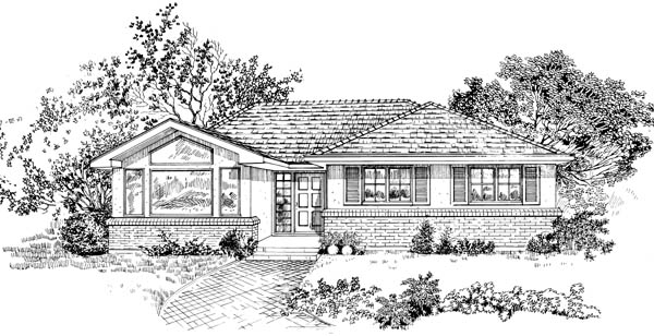 Traditional House Plan 55460 Elevation