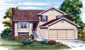 Traditional House Plan 55461 Elevation