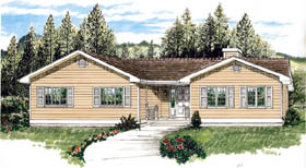 Traditional House Plan 55462 Elevation