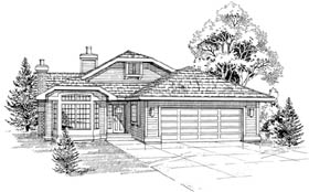 Contemporary House Plan 55463 Elevation