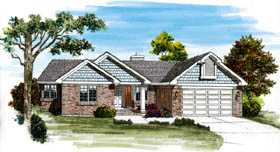 Traditional House Plan 55464 Elevation