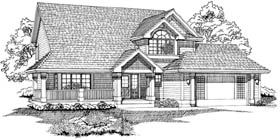 Country House Plan 55465 Elevation