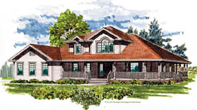 Country House Plan 55466 Elevation