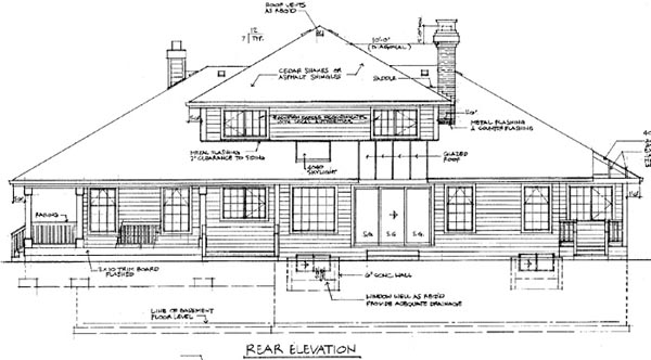 Country House Plan 55466 Rear Elevation