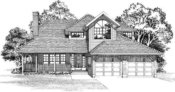 Country House Plan 55469 Elevation