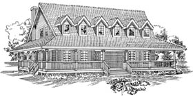 Country House Plan 55470 Elevation