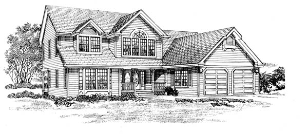 Traditional House Plan 55471 Elevation