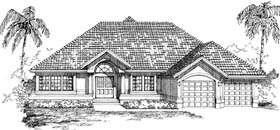 Mediterranean House Plan 55473 Elevation
