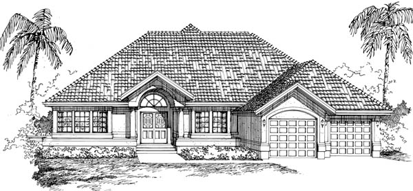 Mediterranean House Plan 55473 Elevation
