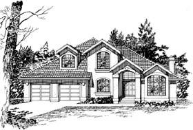 Mediterranean House Plan 55474 Elevation