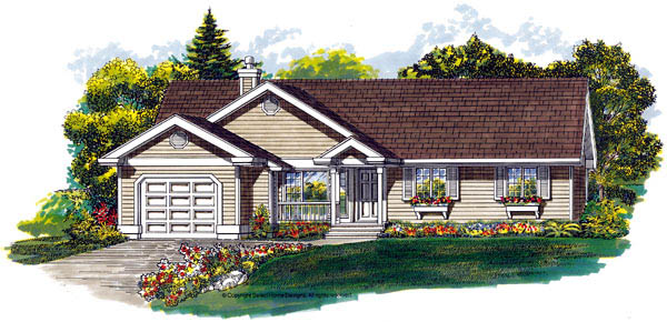 Ranch House Plan 55476 Elevation