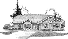 Traditional House Plan 55477 Elevation