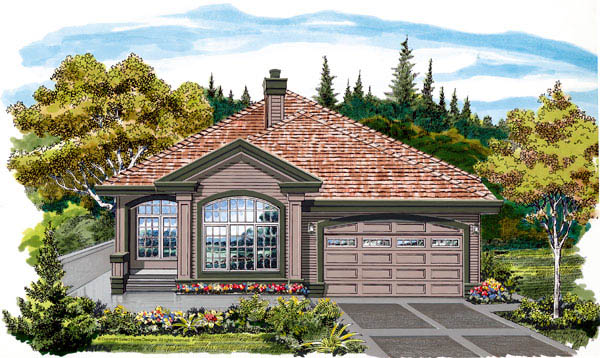 Contemporary House Plan 55478 Elevation