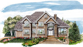 Traditional House Plan 55480 Elevation