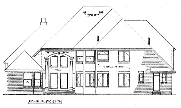 Traditional House Plan 55480 Rear Elevation