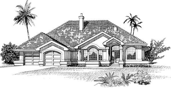 Mediterranean House Plan 55482 Elevation