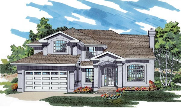 Mediterranean House Plan 55485 Elevation