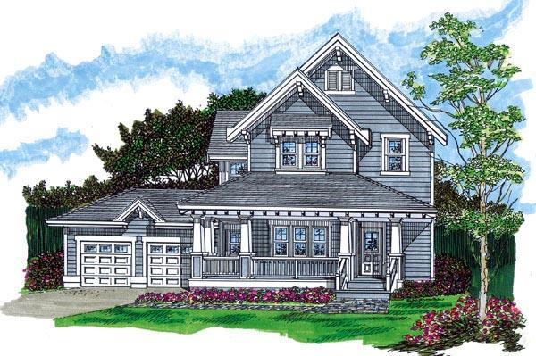 Farmhouse House Plan 55488 Elevation