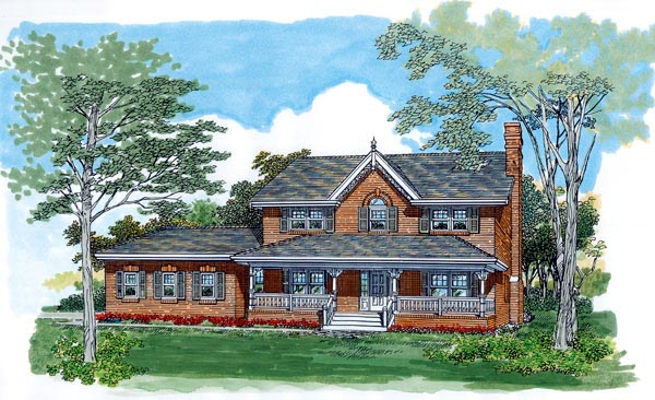 Farmhouse House Plan 55489 Elevation