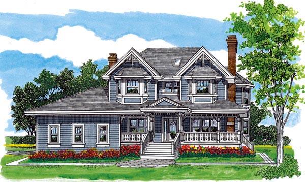 Farmhouse House Plan 55490 Elevation