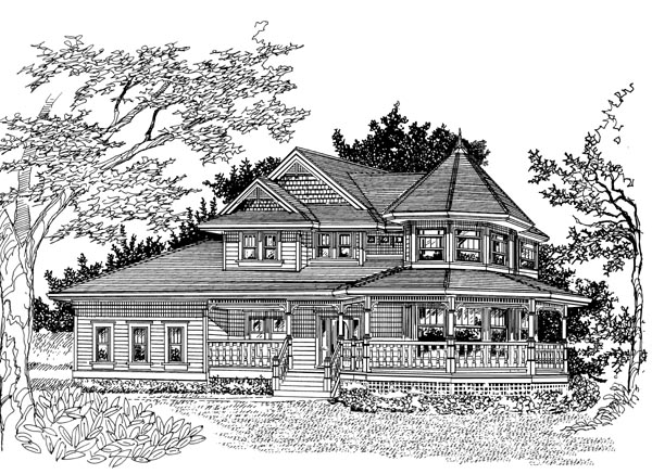 Victorian House Plan 55491 Elevation