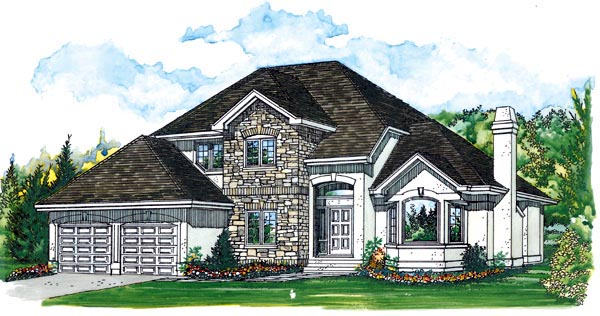 European House Plan 55492 Elevation