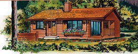 Ranch House Plan 55495 Elevation