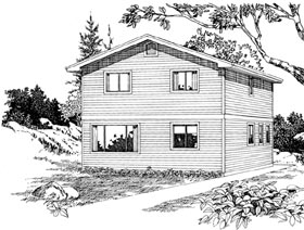 Cape Cod House Plan 55496 Elevation