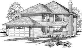 Contemporary House Plan 55504 Elevation