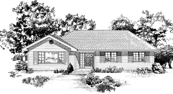 Ranch House Plan 55507 Elevation