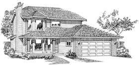Contemporary House Plan 55508 Elevation