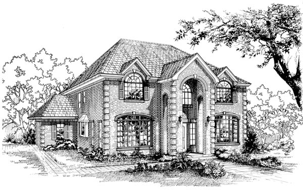 House Plan 55511 Elevation