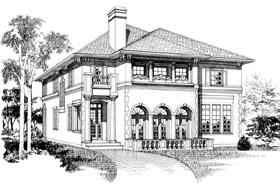 Mediterranean House Plan 55514 Elevation