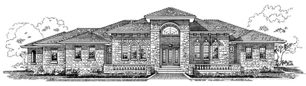 European House Plan 55515 Elevation