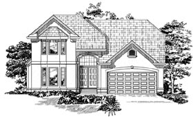 Traditional House Plan 55517 Elevation