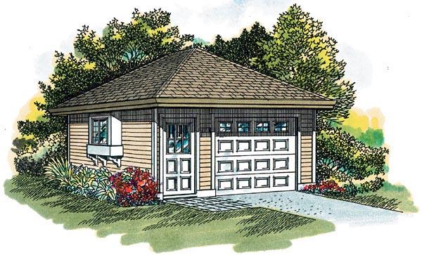Traditional Garage Plan 55521 Elevation