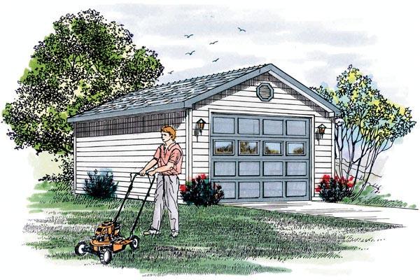 Traditional Garage Plan 55524 Elevation